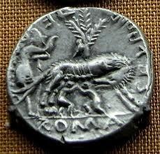Denier Républicain Louve allaitant Rémus et Romulus