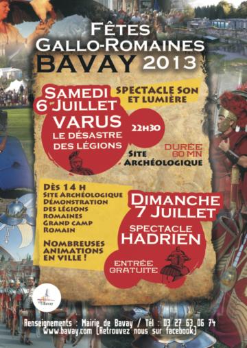 Affiche Bavay 6 et 7 juillet 2013