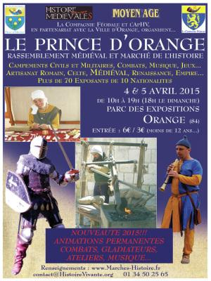 AFFICHE MARCHE DE L'HISTOIRE ORANGE