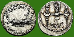 LEGIO VI VICTRIX DENIER MONNAIE DE MARCUS ANTONUS