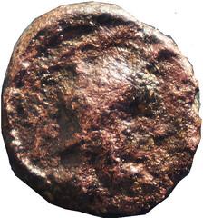 MARSEILLE (Fin Ier av. JC)  1 A/ Tête casquée de Minerve à droite.