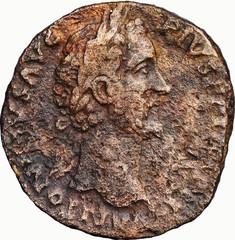 ANTONIN LE PIEUX (138-161) A/ Tête laurée à droite. ANTONINVS AVG-PIVS P P IMP II