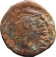 JUSTINIEN I (527-565)  86 A/ Buste diadémé drapé et cuirassé, à droite. )NVS P P AVG